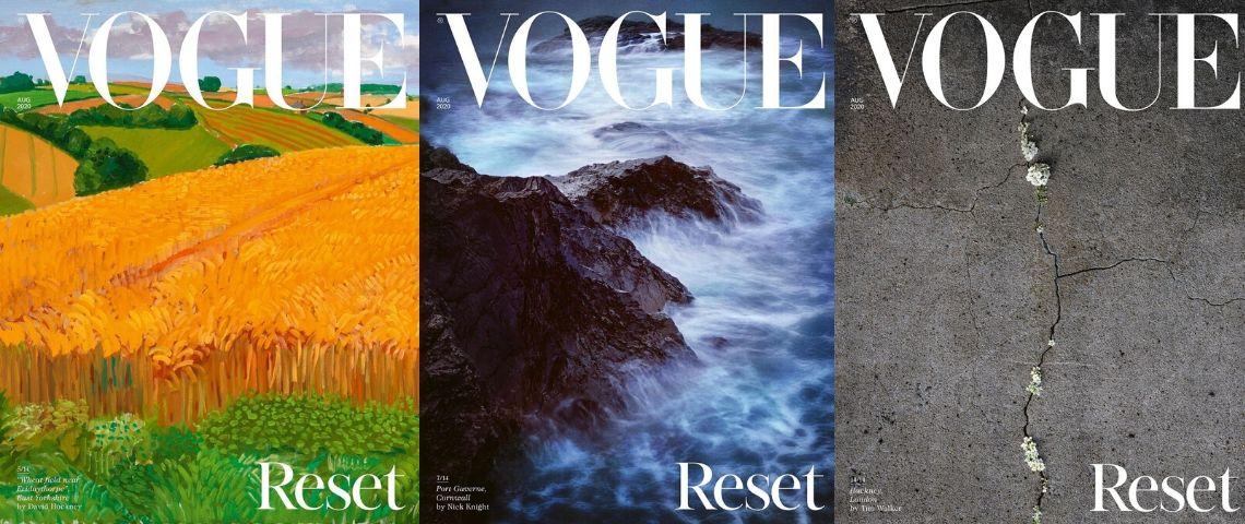 paysages en couverture d'un magazine