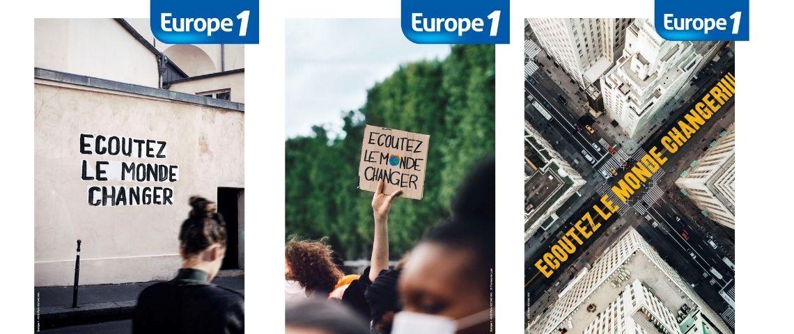 Affiches de la campagne de communication  - Ecoutez le monde changer -