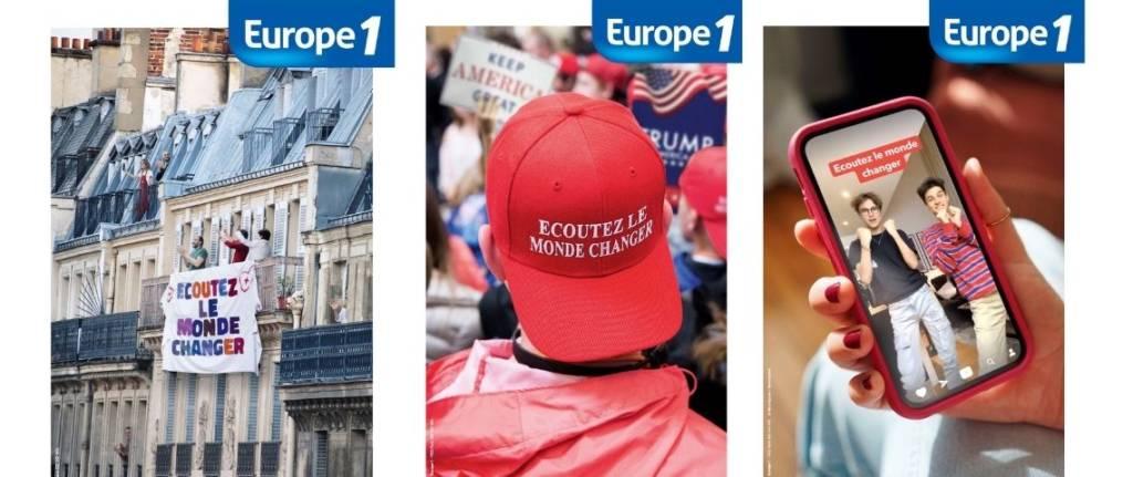 Affiche de la campagne Ecouter le monde changer d'Europe 1