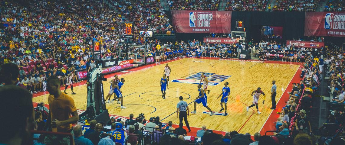 Match de basket à Los Angeles