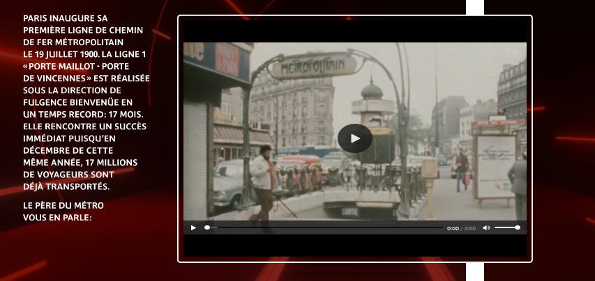 Capture d'écran de la plateforme numérique de la RATP