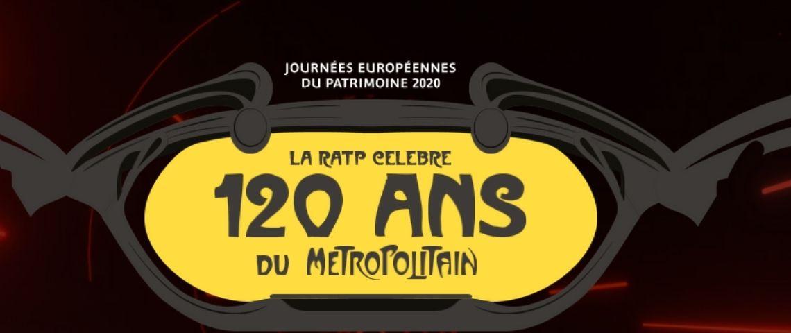 Logo de la plateforme numérique de la RATP pour ses 120 ans