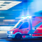 Une mabulance à pleine vitesse