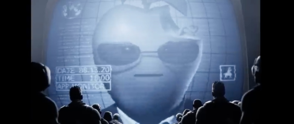 Capture d'écran de la vidéo de Fortnite contre Apple
