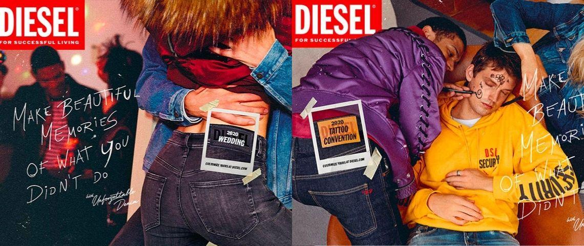 Visuels de la campagne de communication de Diesel