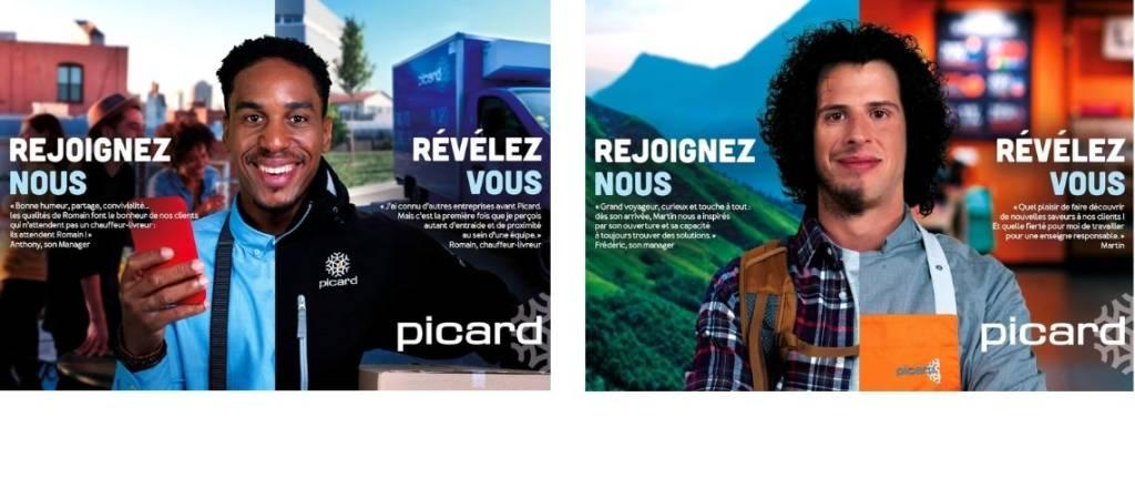 Affiches de la campagne de recrutement Picard