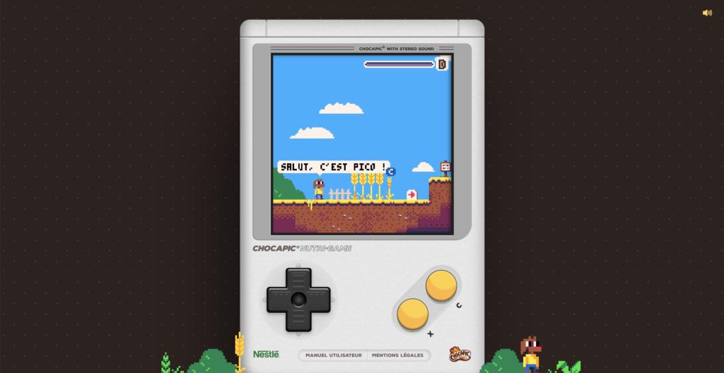 Capture d'écran du Chocapic Nutri Game