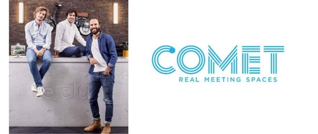 Logo et fondateurs de Comet Meetings
