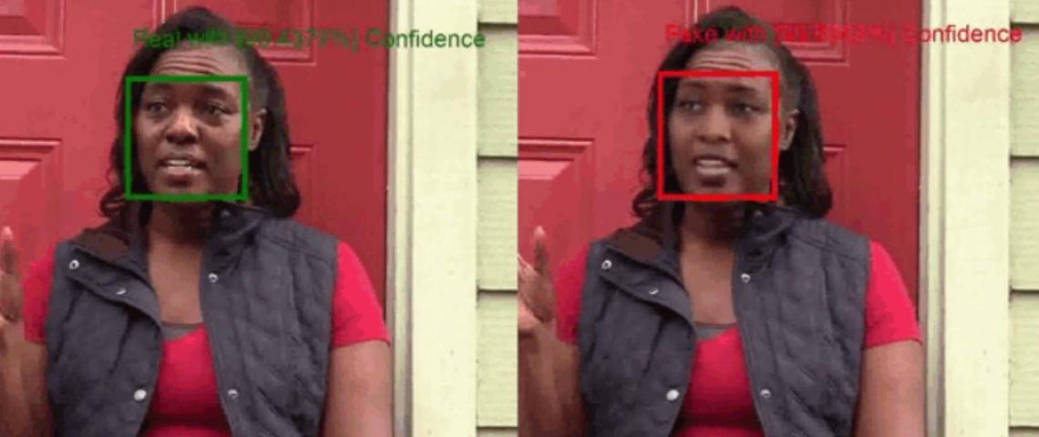 Image de l'outil de détection de deepfake Microsoft
