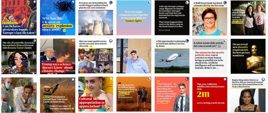 Comment le Guardian a gagné 1,3 million d'abonnés sur Instagram en un an ?