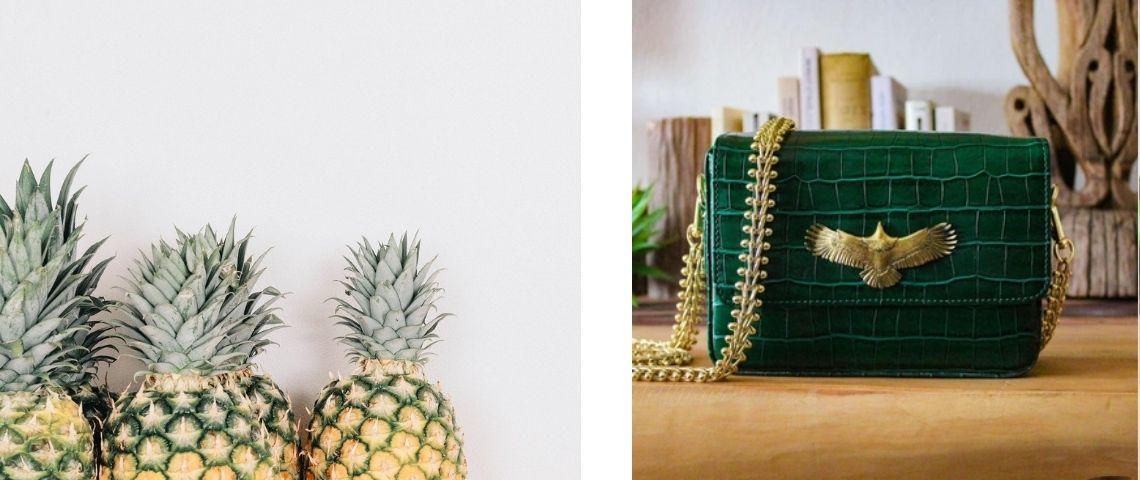 Sac à main en cuir d'ananas