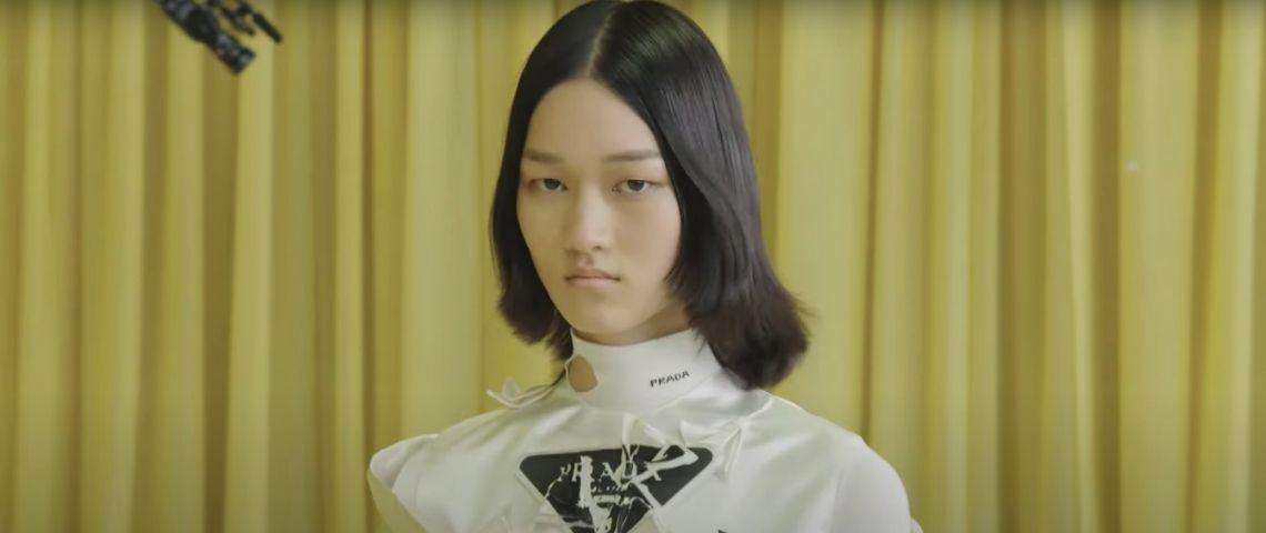 Un mannequin du défilé Printemps/été 2021 de Prada