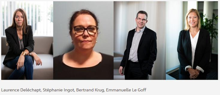 Laurence Delechapt, Stéphanie Ingot, Bertrand Krug, Emmanuelle Le Goff