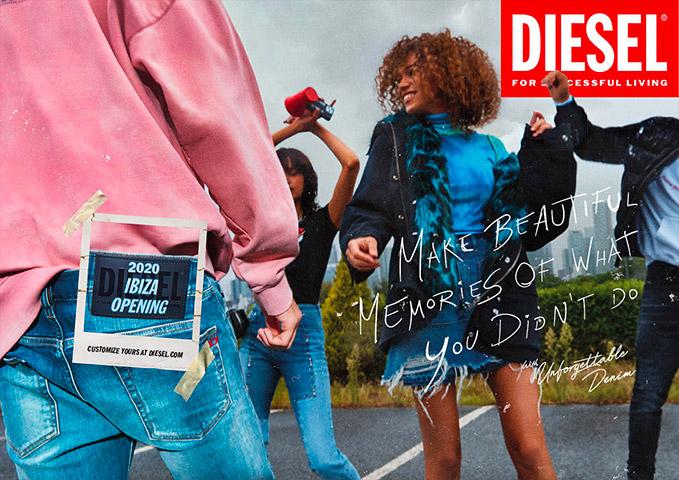 Visuel de la campagne de communication de Diesel