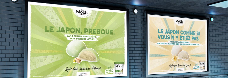 Campagne d'affichage Exquis Mochi