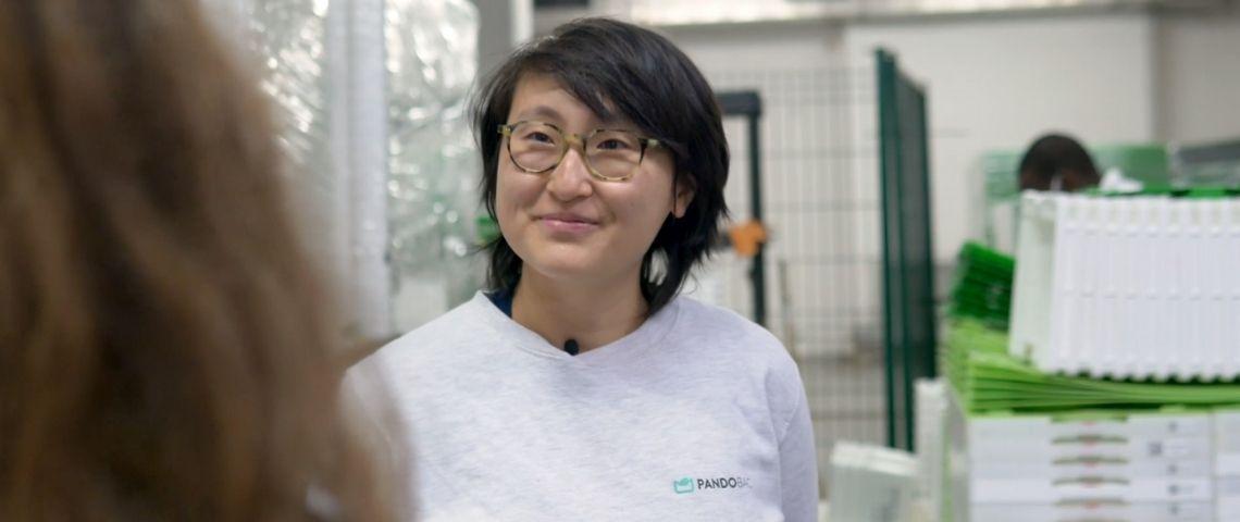 Shu CEO de Pandobac sourire