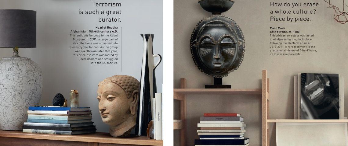 Affiche de la campagne de l'UNESCO : Le vrai prix de l'Art