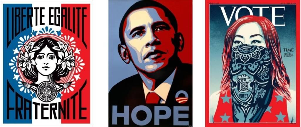Affiches de l'artiste Obey, Shepard Fairey, Hope et Marianne