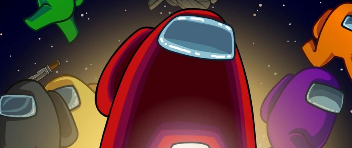 L'affiche du jeu avec un personnage rouge sur un fond spatial