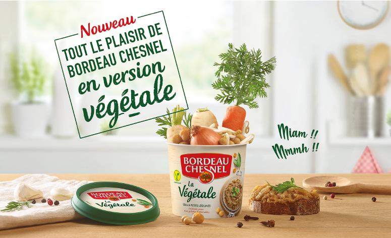 Affiche avec un pot de rillettes duquel sortent des légumes
