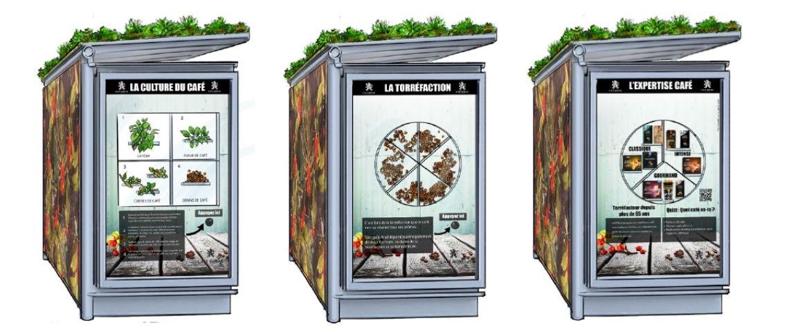 Visuels de la campagne d'affichage de Café Royal