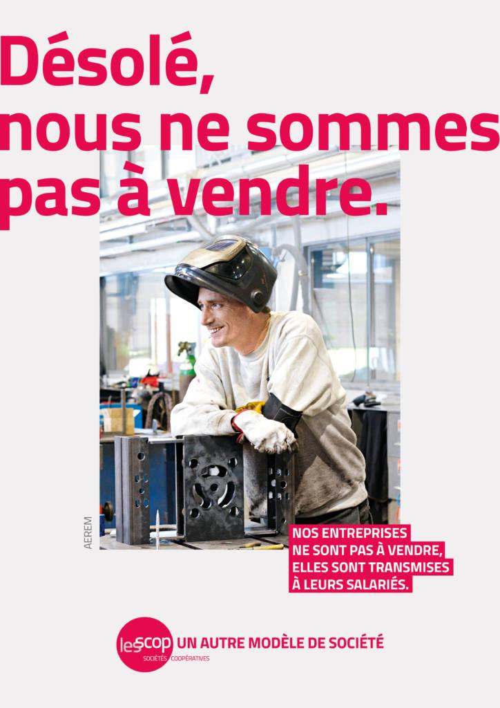 Affiche de la campagne de communication des Scop