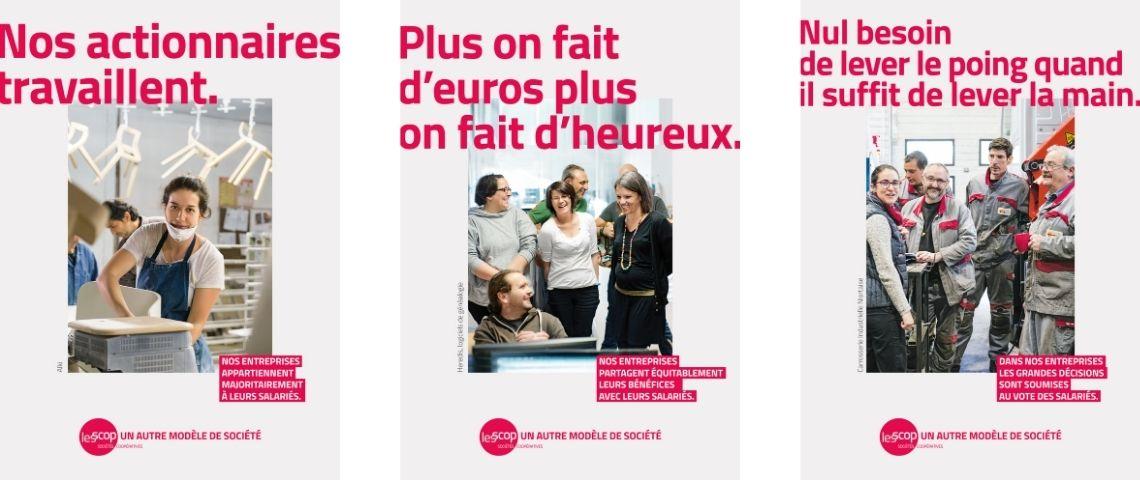 Affiches de la campagne de communication des Scop