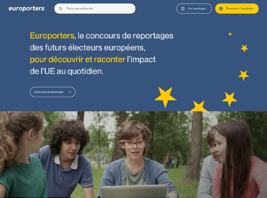 Affiche de présentation de la plateforme Europorters