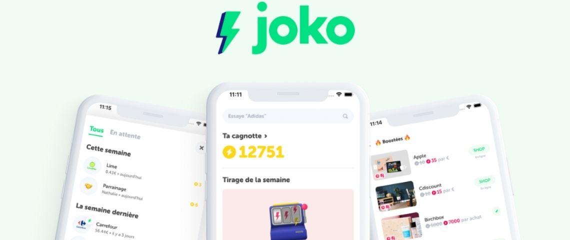 Capture de l'application Joko