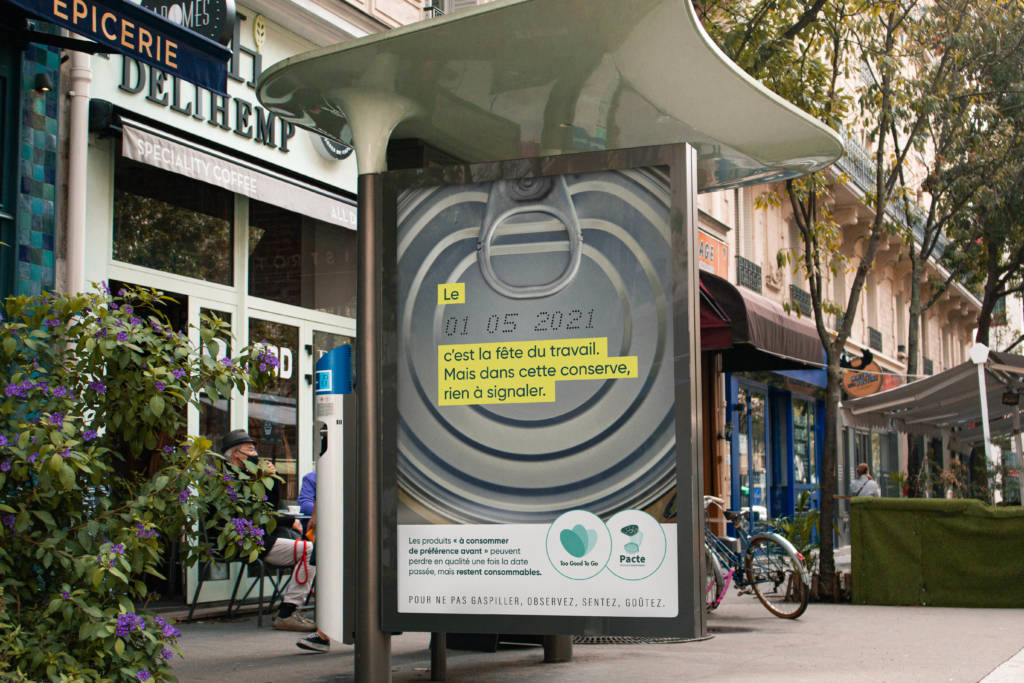 Visuels de la campagne de sensibilisation sur les dates de consommation de Too Good To Go