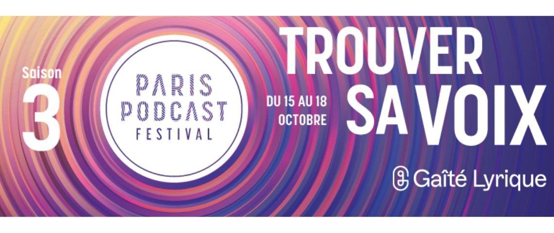 Affiche 3ème Edition du Paris Podcast Festival