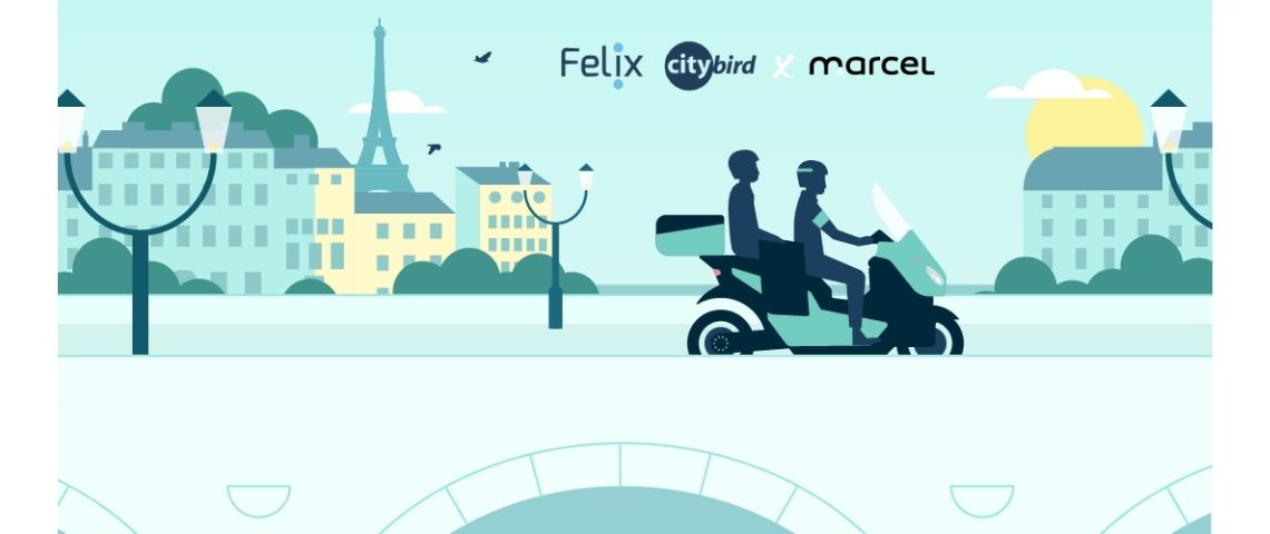 Affiche partenariat Marcel et Felix Citybird