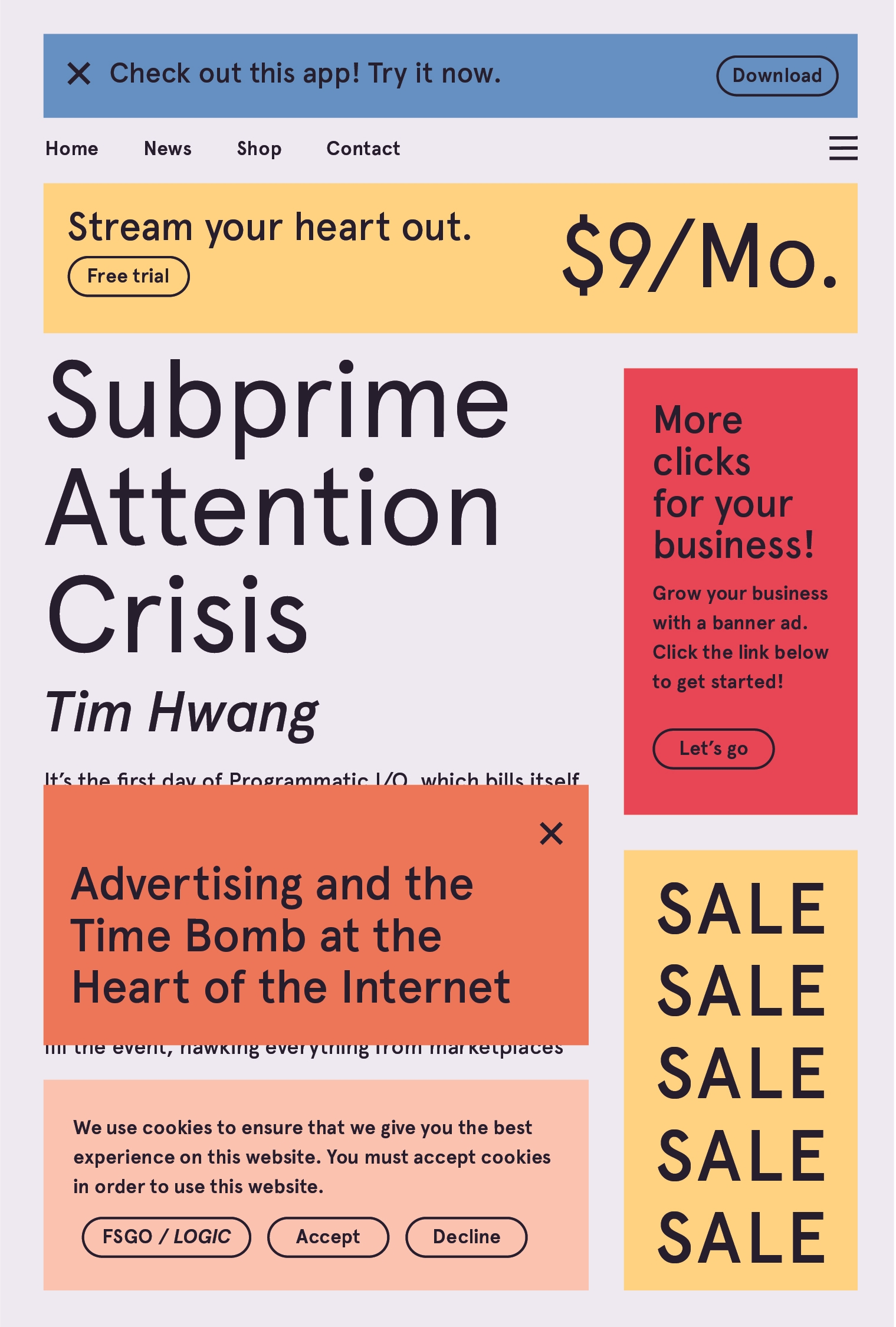 Couverture du livre Subprime Attention Crisis