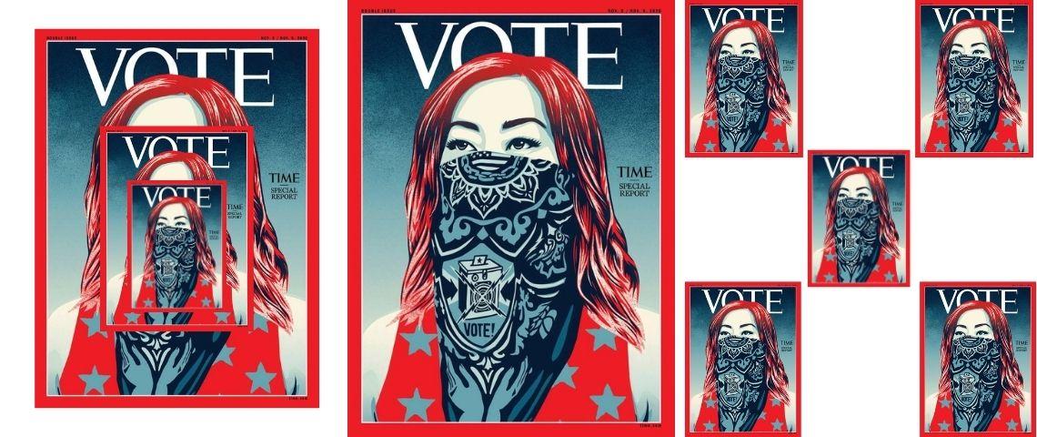 A quelques jours de la présidentielles américaines la magzine Time change son nom pour appeler au VOTE
