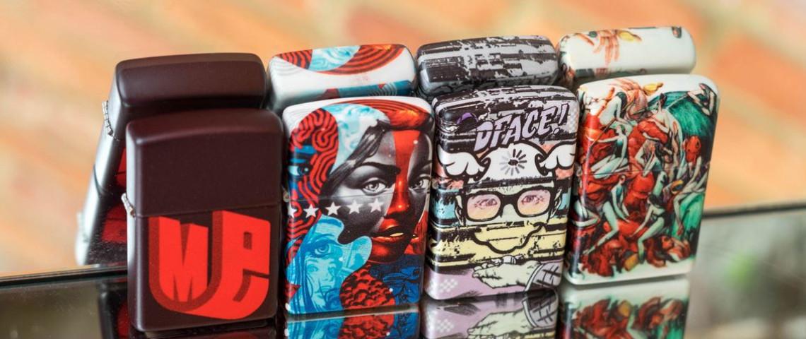 La marque de briquet Zippo s'associent avec le street artist D*Face, pour le lancement de son innovation 540 color