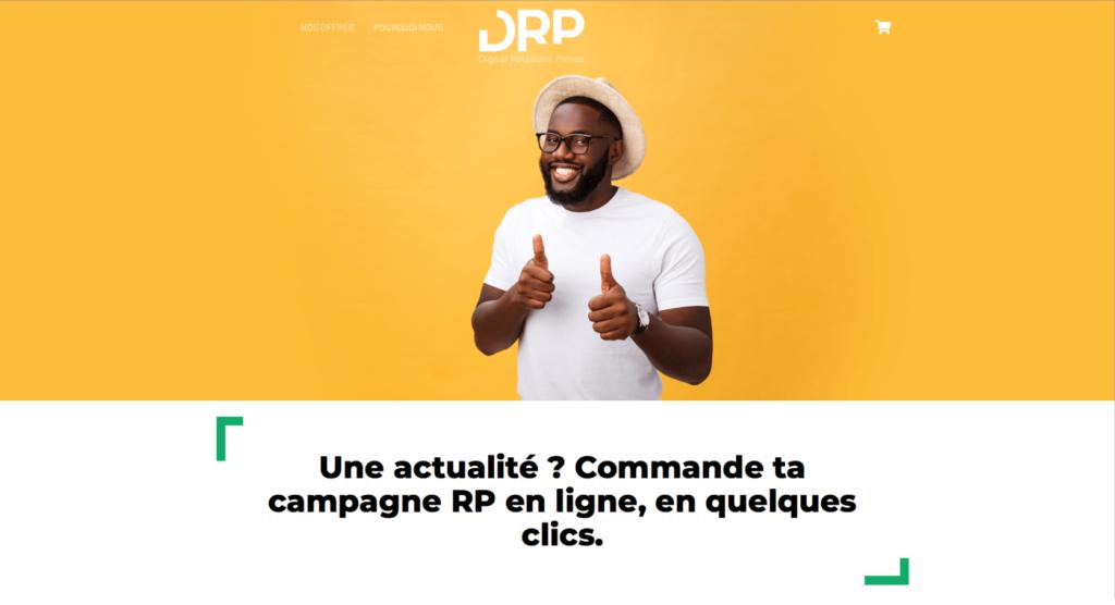 Capture d'écran de la plateforme DRP