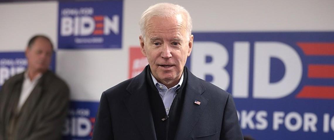 Photo de Joe Biden pendant sa campagne en janvier 2020