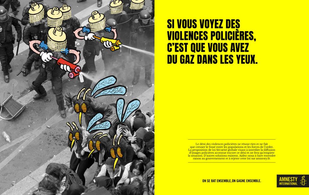 Affiche de la campagne d'Amnesty International