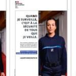 Capture de la campagne d'affichage du ministère de la justice