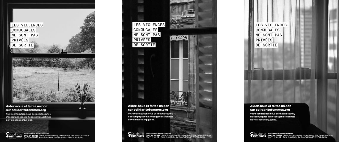 Visuels de la campagne de Contre les #ViolencesConjugales