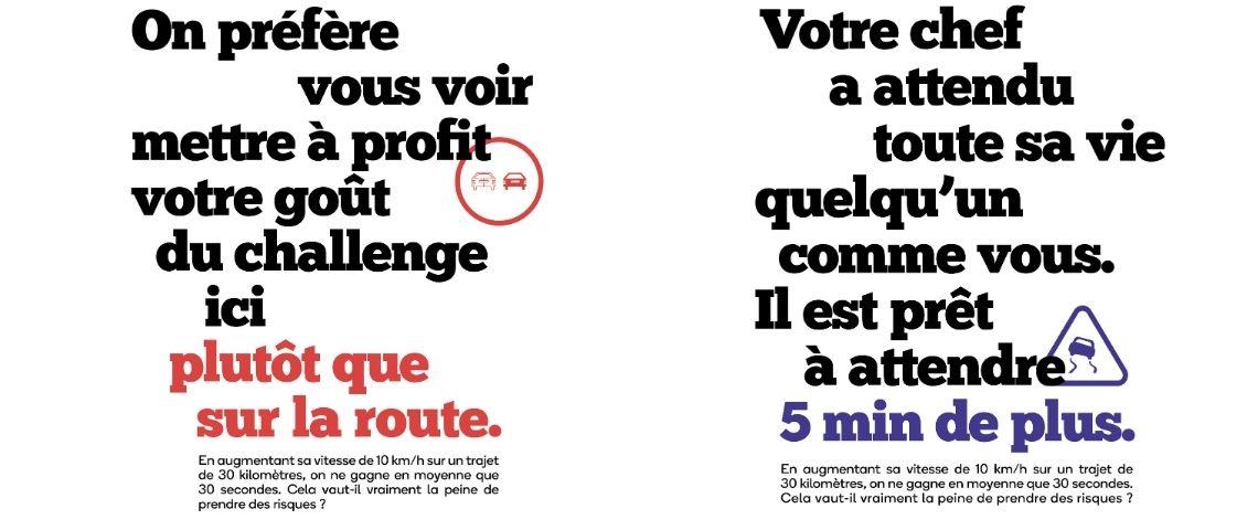 Affiche de la campagne de la sécurité routière