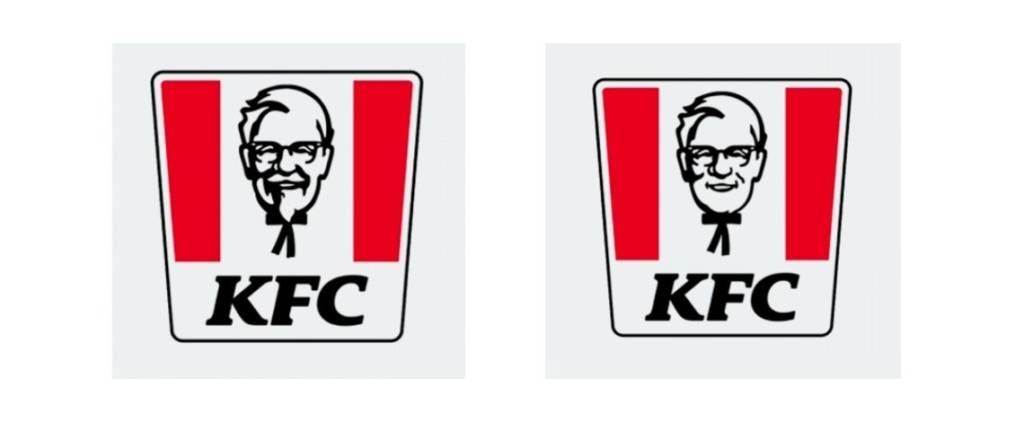Logos Colonel Sanders KFC non rasé et rasé