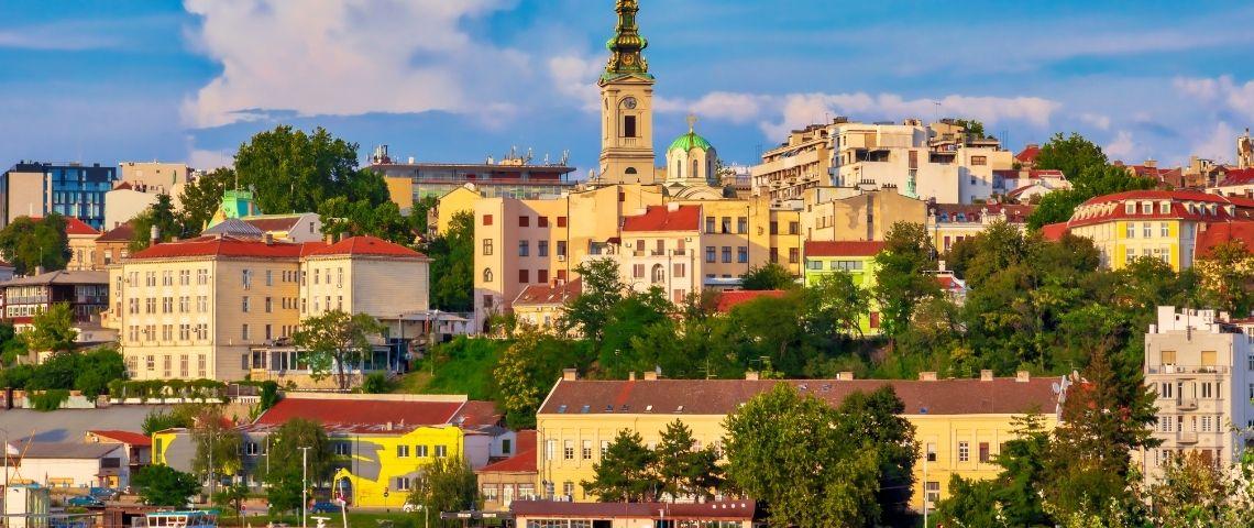 Une image style carte postale de Belgrade