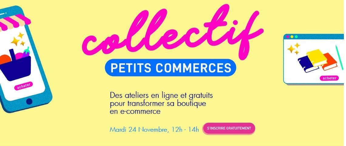 Affiche « Collectif Petits Commerces »