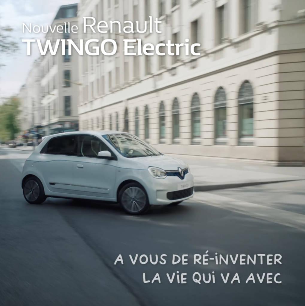 Affiche de la Twingo Electrique