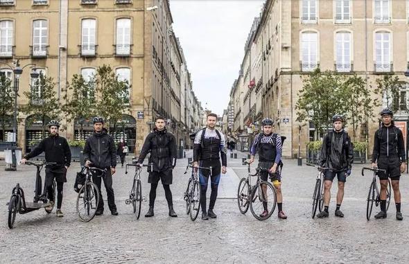 Equipe : les coursiers rennais livraison de repas à Rennes