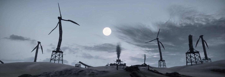 Un monde apocalyptique avec des pompes à pétrole à l'abandon