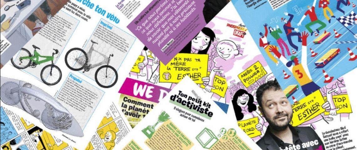 Pages du magazine We Demain
