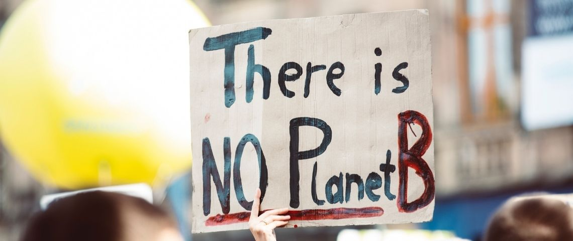 Message  - There is no Planet B -