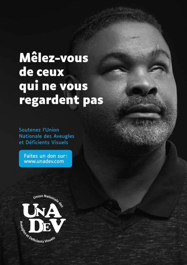 Affiche de la campagne de sensibilsation de l'Unadev